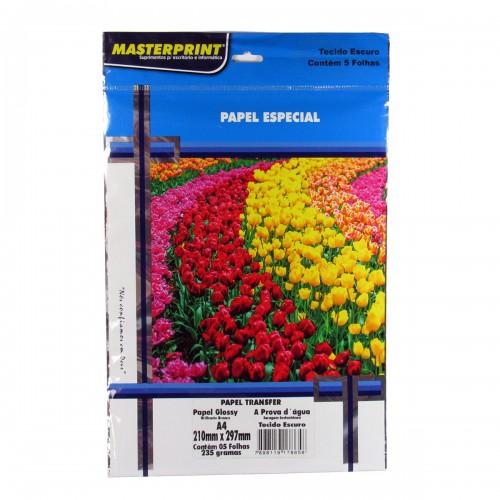 Papel Fotográfico Transfer Escuro Masterprint A4 235 Gramas 5 Folhas - Masterprint - 7898119178658