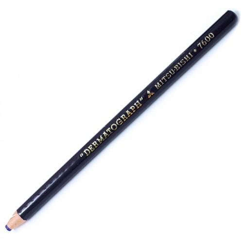 Lápis Dermatográfico Mitsu-Bishi 7600 Preto 01 Unidades - Mitsu-Bishi - 7600