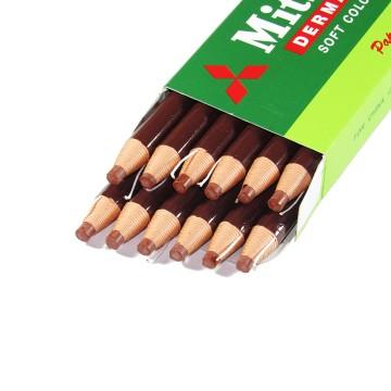 Lápis Dermatográfico Mitsu-Bishi 7600 Marrom 12 Un...