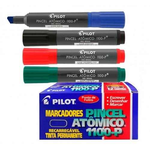 Pincel Atômico Azul 1100-P Pilot 12 Unidades - PILOT - Azul 1100-P