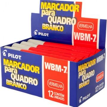 Pincel Marcador Para Quadro Branco Wbm-7 Vermelho Pilot 12 Unidades