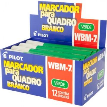 Pincel Marcador Para Quadro Branco Wbm-7 Verde Pilot 12 Unidades