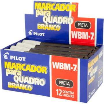 Pincel Marcador Para Quadro Branco Wbm-7 Preto Pilot 12 Unidades