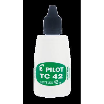 Tinta Para Carimbo Pilot Tc42 Preta Pilot | 12 Unidades