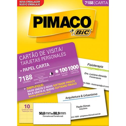 Cartão De Visita Personal Cards 7188 Pimaco 100 Folhas - Pimaco - Cards 7188