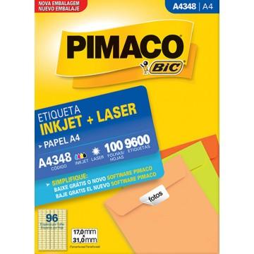 Etiqueta A4348 17,0x31,0mm ink-jet/laser Pimaco 100 Folhas
