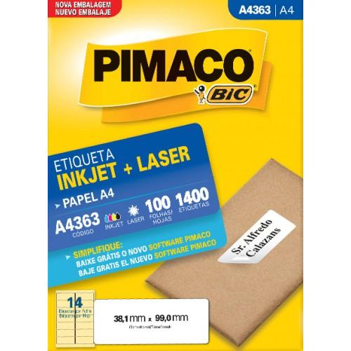 Etiqueta A4363 38,1x99,0mm ink-jet/laser Pimaco 100 folhas - Pimaco - A4363