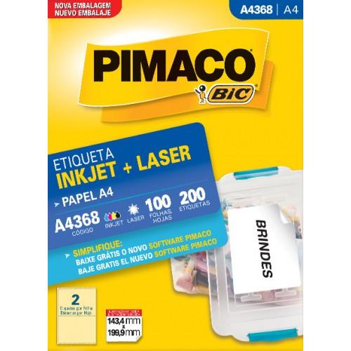 Etiqueta A4368 143,4x199,9mm ink-Jet/Laser Pimaco 100 folhas - Pimaco - A4368