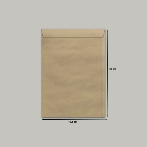 Envelope 176 X 250 Meio Oficio Saco Pardo SKN325 Scrity 250 Unidades - Scrity - SKN325