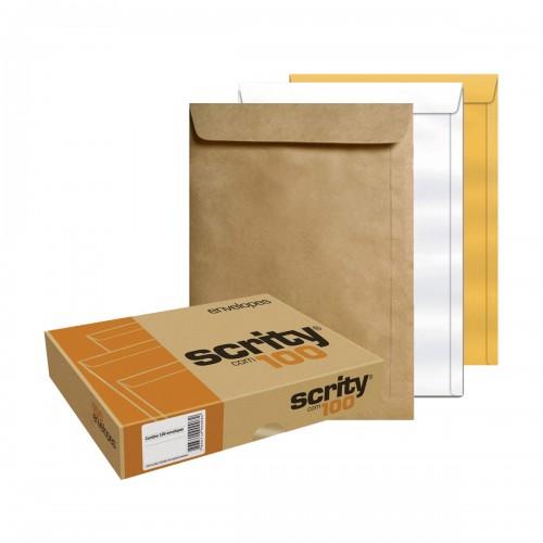 Envelope 200 X 280 Pardo Saco Scrity 100 Unidades - Scrity