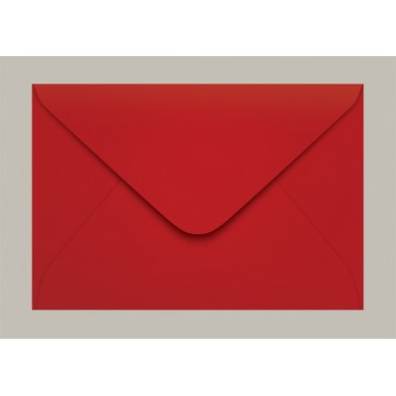 Envelope Carta 114x162 Tóquio Vermelho Scrity 100 Unidades