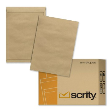 Envelope Meio A4 162 X 229 saco Kraft Pardo SKN323 Scrity 250 Unidades