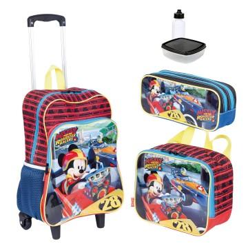 Kit Mochila Infantil Mickey 18M Plus Lancheira Est...