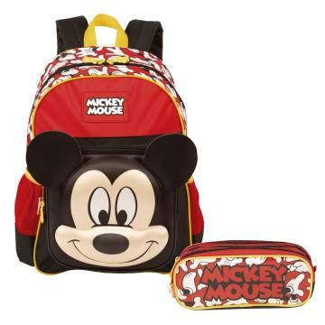 Kit Mochila Infantil Mickey 19Y Estojo Sestini