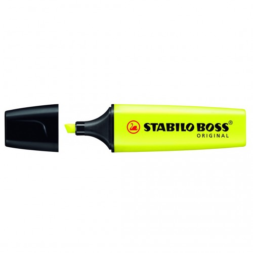 Caneta Marca Texto Stabilo Boss 4 Cores Neon - Stabilo - Boss 4 Cores Neon