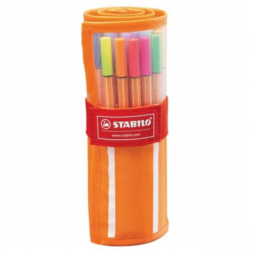 Caneta Stabilo Neon Point 88 Ponta 0,4 Estojo Nylon 30 Cores Sortidas - Stabilo - 8830-2