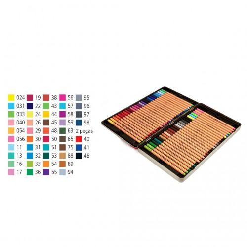 Kit Stabilo Lettering Marca Texto Caneta Neon Pastel Pro 71 Peças - Stabilo - Point 88 5